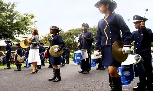 Panama Day parade in El Valle de Anton